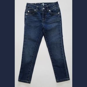 Girls 7FAM The Skinny Blue Jeans Size 4